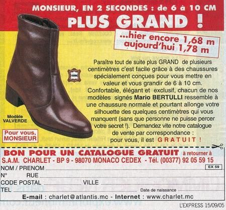 Chaussure pour Nicolas Sarkozy