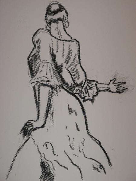 Pin dessin de danseur on pinterest - Danseuse flamenco dessin ...