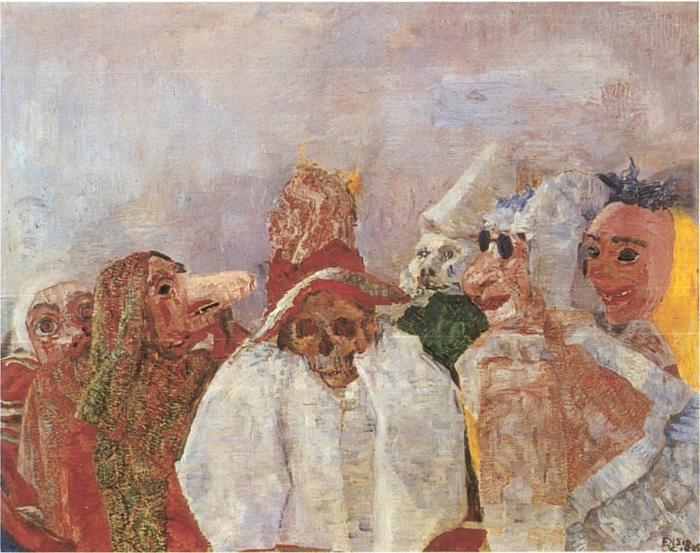 James Ensor , Masques devant la mort