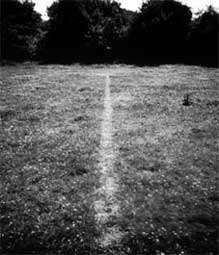 """A line made by walking"" Richard Long 1967"