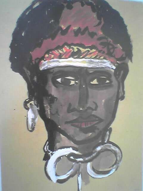 """Emil nolde """"Portrait d'un jeune homme de Nouvelle Guinée"""" 1913-1914"""