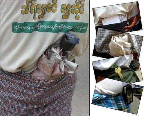 le longyi au Myanmar