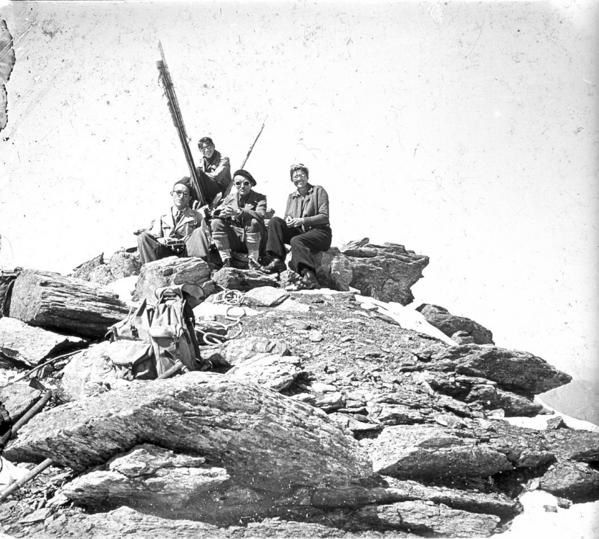 Sommet de bellecote 1930 Vanoise photo Henri Bolon / Guillaume Ledoux Apoutsiak