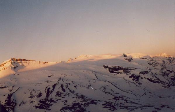Glaciers de la Vanoise vus de la Grande Casse leve