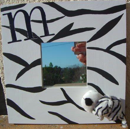 Miroir z bre l 39 atelier de coclem for Miroir zebre