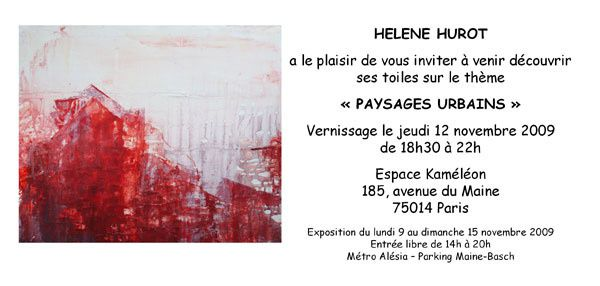 "Invitation to ""Urban Landscapes"" exhibition"