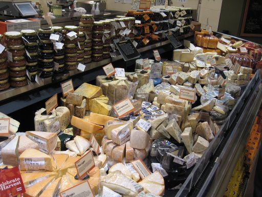 Whole Foods Market's cheese department in Vancouver