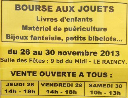 Bourse aux jouets 2013 au Raincy
