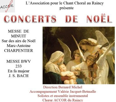 Concerts de Noël du choeur ACCOR du Raincy