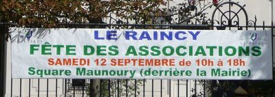 Calicot municipal pour la fête des associations du 12 septembre - photo Raincy-Nono