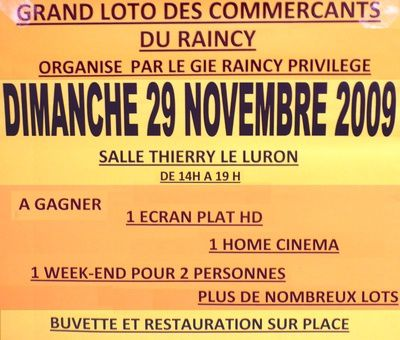 Le Raincy - loto des commerçants