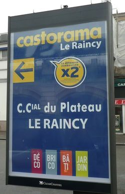 Le Raincy magasin Castorama du Plateau