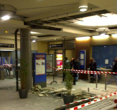 gare RER du Raincy Villemomble Montfermeil le 9 janvier 2011