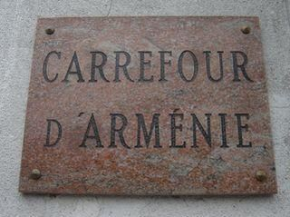 Photo Raincy-Nono plaque Carrefour d'Arménie