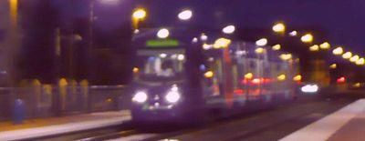 Photo Raincy-nono Tram-train la nuit