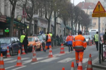 travaux avenue de la Résistance au Raincy