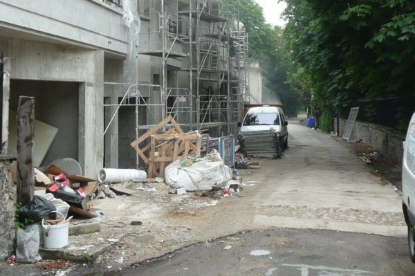 Le Raincy chantier allée de Villemomble