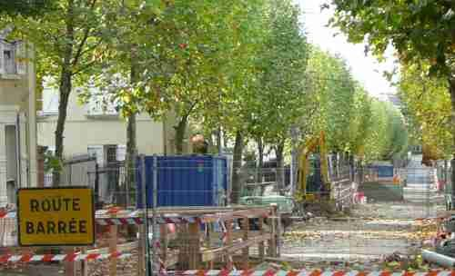 Photo Raincy-Nono : les travaux en cours bd du Midi