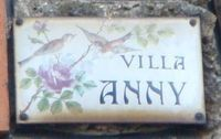 Le Raincy- villa Anny-belle plaque ancienne