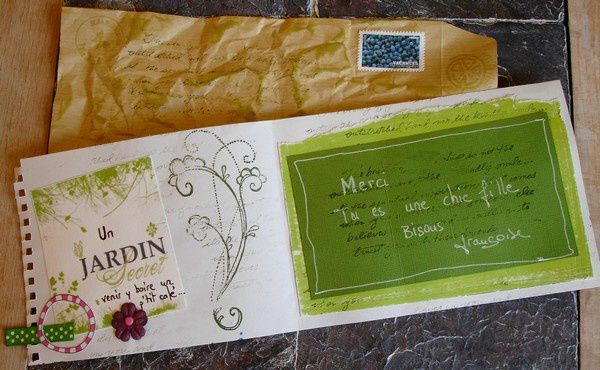 Mail art art postal l 39 atelier du citron vert for Au jardin secret de tadine