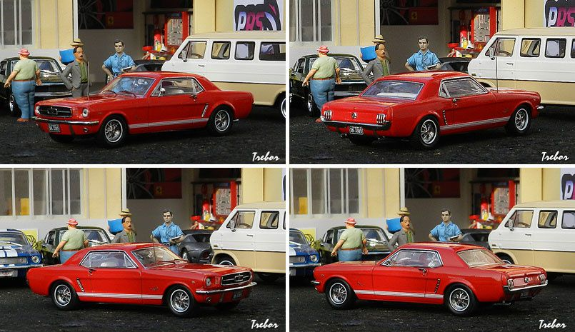 4480GR Mustang coupe rouge