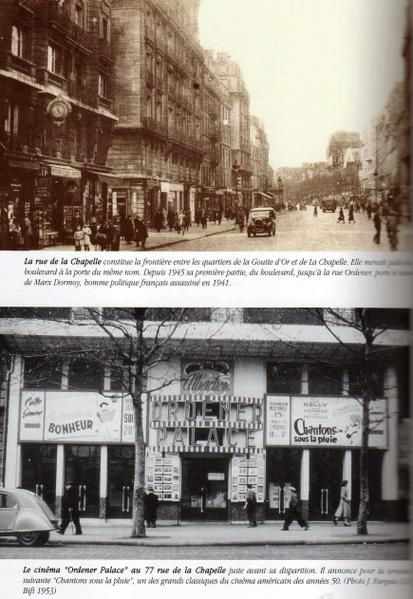 LA RUE DE LA CHAPELLE ET SON CINEMA