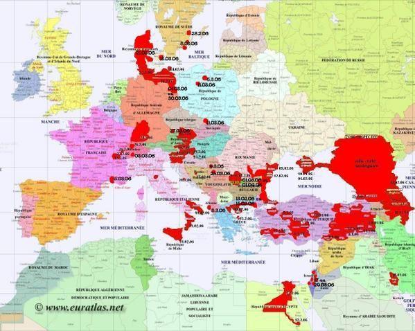 Carte De Leurope Et Moyen Orient.Situation Des Foyers De Grippe Aviaire En Europe Au 04 04