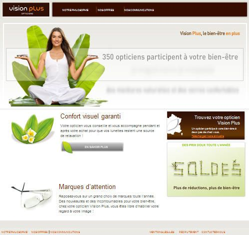 Nouveau site web Vision Plus Opticiens