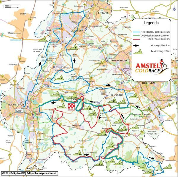 Amstel Gold Race 2011 parcours
