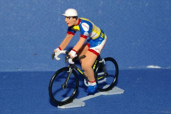 Figurine petit cycliste miniature : Maillot Cicloweb