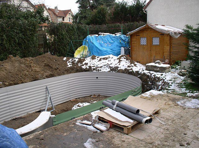 Album montage construction d 39 une piscine waterair for Construction piscine 78