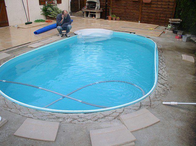 Album pose liner construction d 39 une piscine waterair for Pose liner piscine
