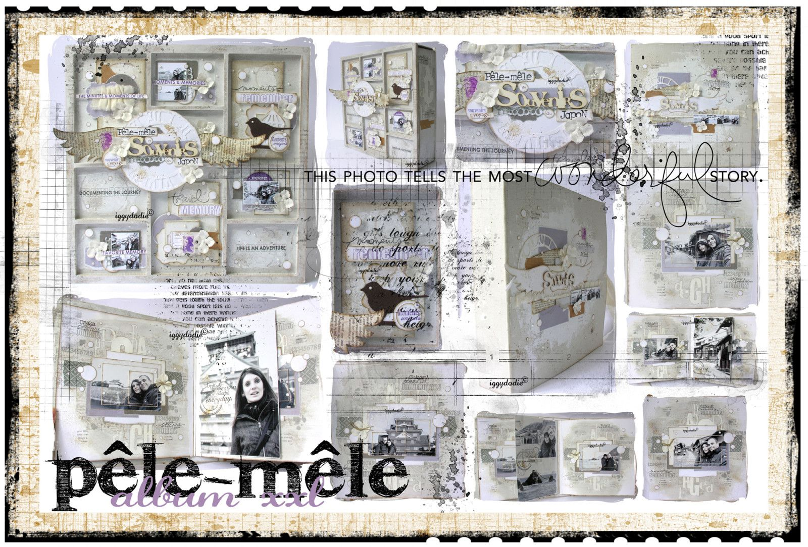 scrapbooking cadre photo pele mele fashion designs. Black Bedroom Furniture Sets. Home Design Ideas