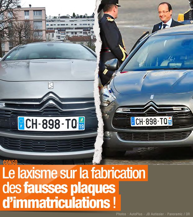fausses plaques immatriculation