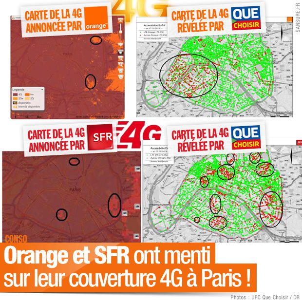 orange et sfr ont menti sur leur couverture 4g paris 4g. Black Bedroom Furniture Sets. Home Design Ideas