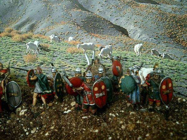 Les féroces Thraces s'apprêtent à charger l'ennemi