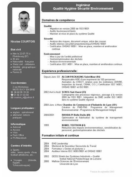 exemple de cv auditeur qualit u00e9