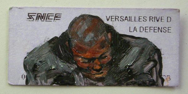 © Luc grateau 2007 – Serialpaintings.net  - serial painter figures peintes métro