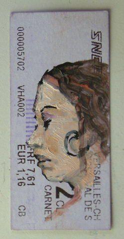 © Luc grateau 2007 – Serialpaintings.net  - serial painter figures peintes métro