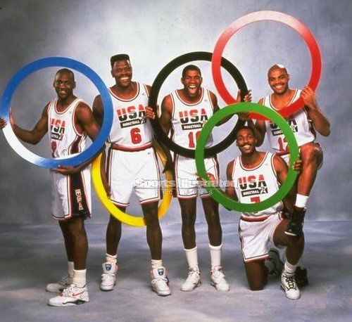 american dream team barcelona 1992 jordan ewing johnson mal