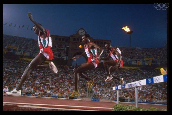 barcelone 1992 triple kenyan 3000m steeple