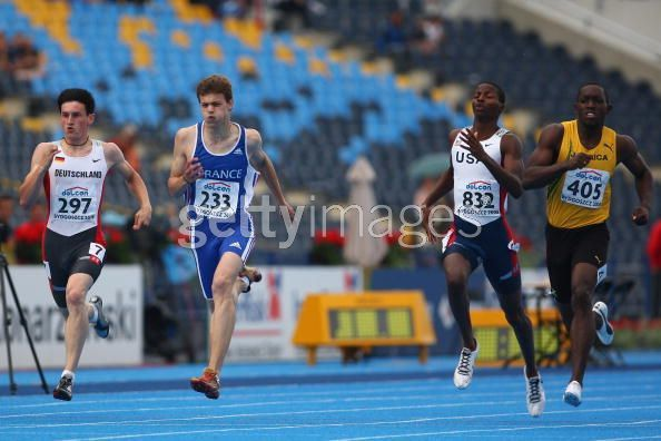 Christophe Lemaitre champion du monde junior 200m