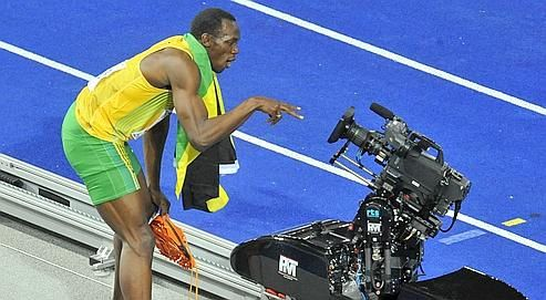 usain bolt camera straming athletisme