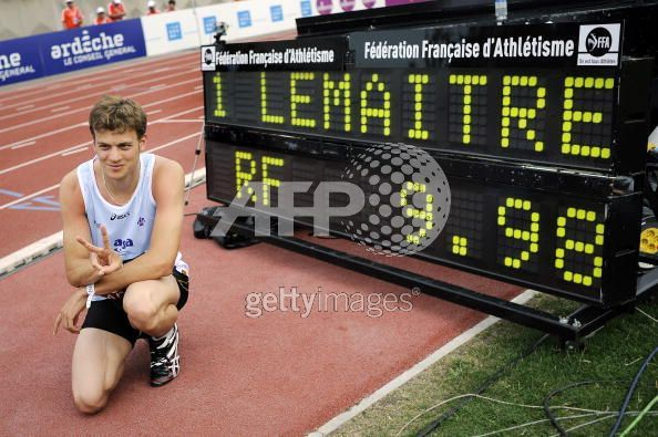 christophe lemaitre 100m Record France