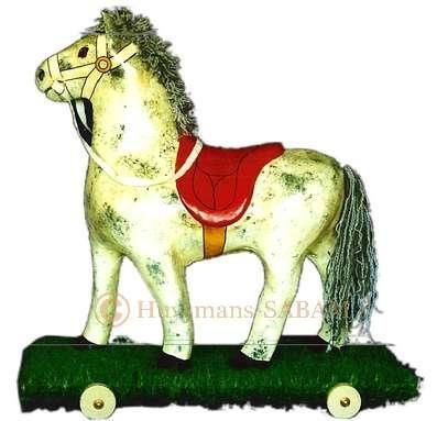Copie de jouet ancien: cheval à roulette - Arts et sculpture: sculpteur, artisan d'art