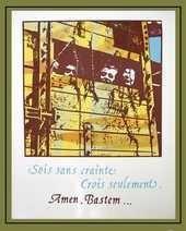 """Arts graphiques: sérigraphie """"Sois sans crainte Crois seulement"""" - Arts et sculpture: artiste peintre, sculpteur contemporain"""