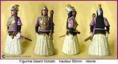 Statuette polychrome en ronde-bosse Géant Goliath - Arts et sculpture: sculpteurs, artisans d'art