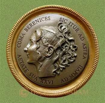 Médaille: portrait de jeune femme - Repliqua 3D: sculpteur contemporain