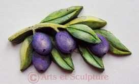 Provence-sculpture-branche-olivier - Arts et Sculpture