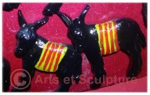 Fait par Josy: ane catalan1 - Arts et Sculpture: sculpteur infographiste